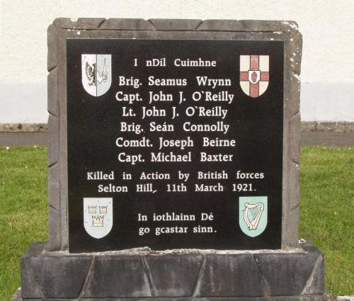 Selton Hill Memorial in Aughnasheelin Graveyard